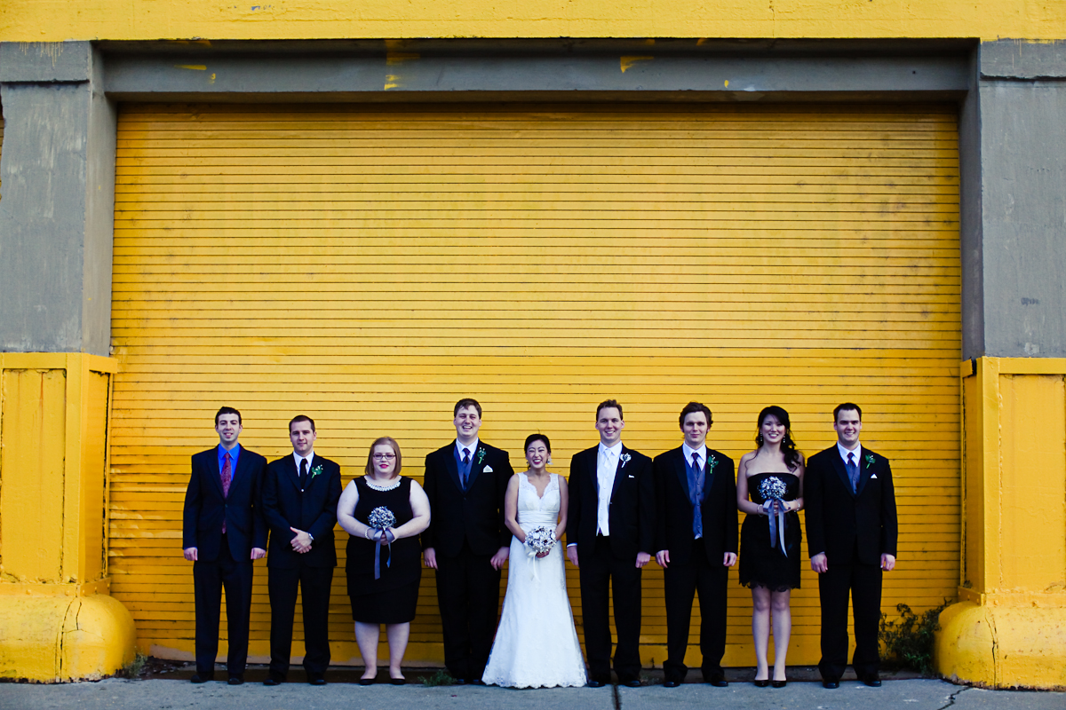 Chicago Wedding Photography Urban Yellow Wall Studio Finch