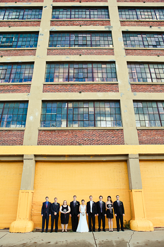 Chicago Wedding Photography Urban Yellow Wall Studio Finch Wedding Party