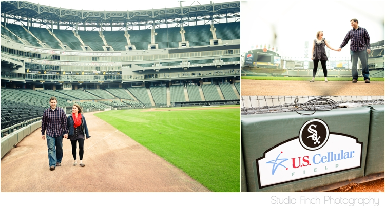 Chicago White Sox Engagement Photo US Cellular Field by Studio Finch