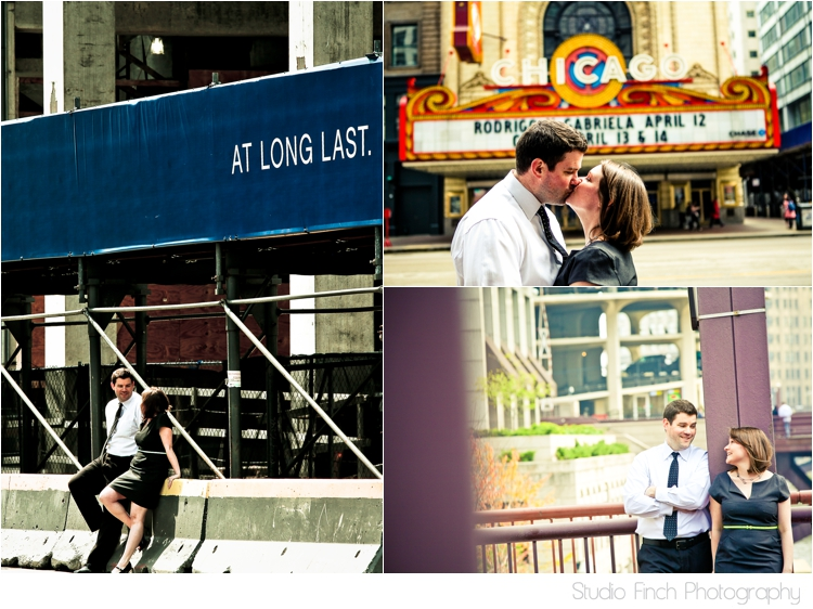 Chicago Theatre Engagement Photography Chicago City by Studio Finch