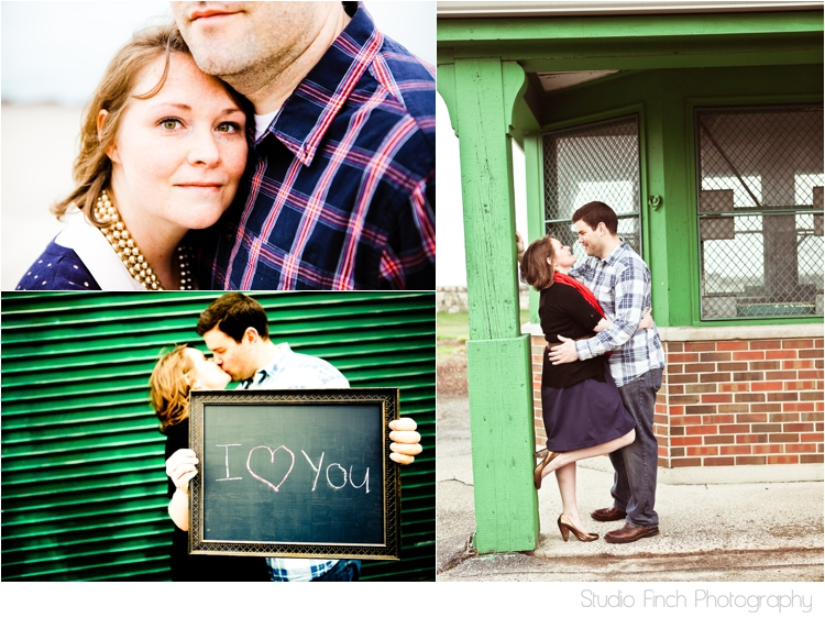 Chicago Engagement Photo Green Brick Cute by Studio Finch
