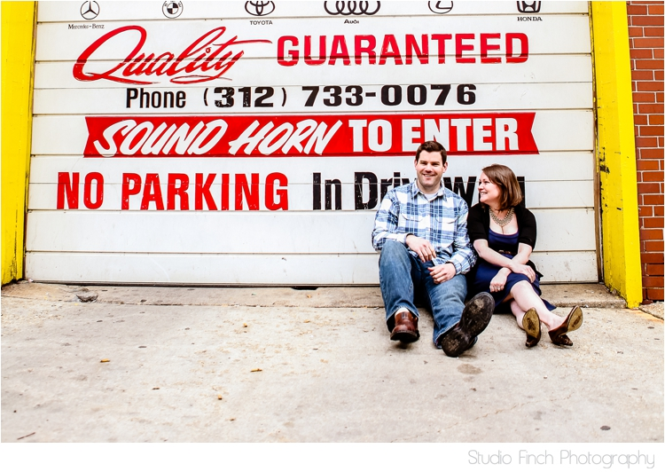 Urban Engagement Photo Grunge Chicago by Studio Finch