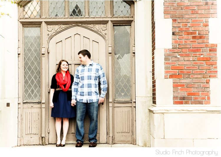 Tower Brick Lake Michigan Engagement Photo by Studio Finch