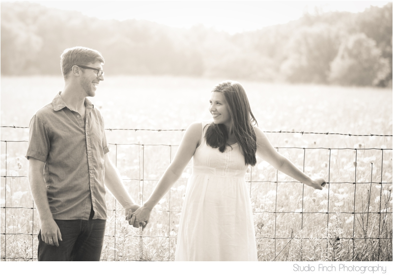 Couple in front of Sunny Meadow Engagement Photo