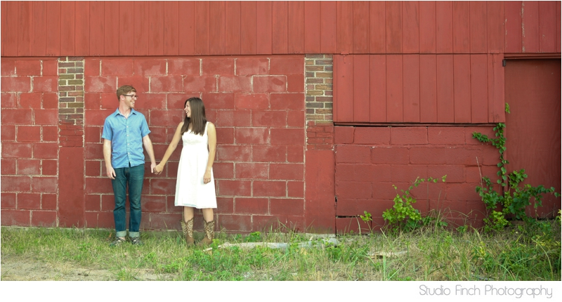 Red Barn Engagement Photo Indiana Countryside by Studio Finch