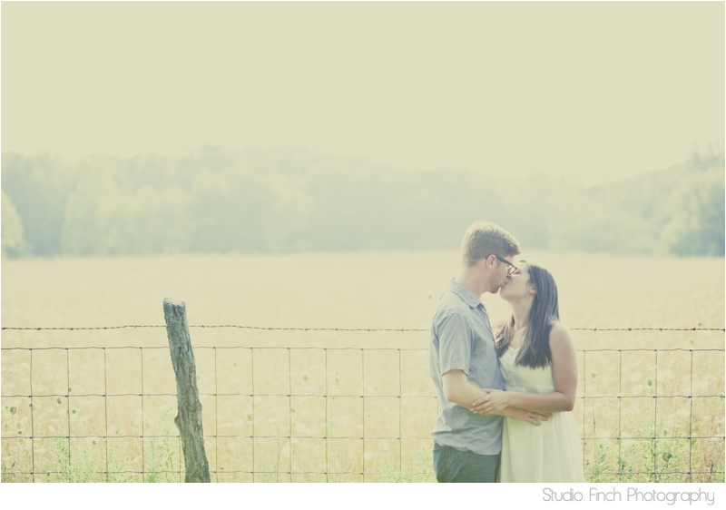 Sunny Golden Field Engagement Indiana Photo by Studio Finch