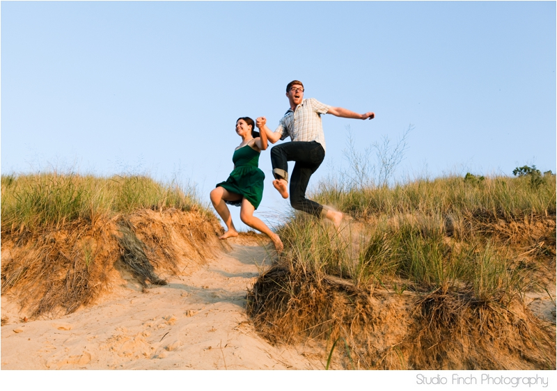 Indiana Dunes National Park Lake Michigan Engagement Photo by Studio Finch