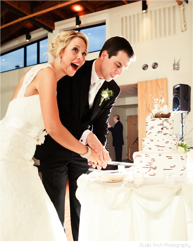 cake cutting excitement