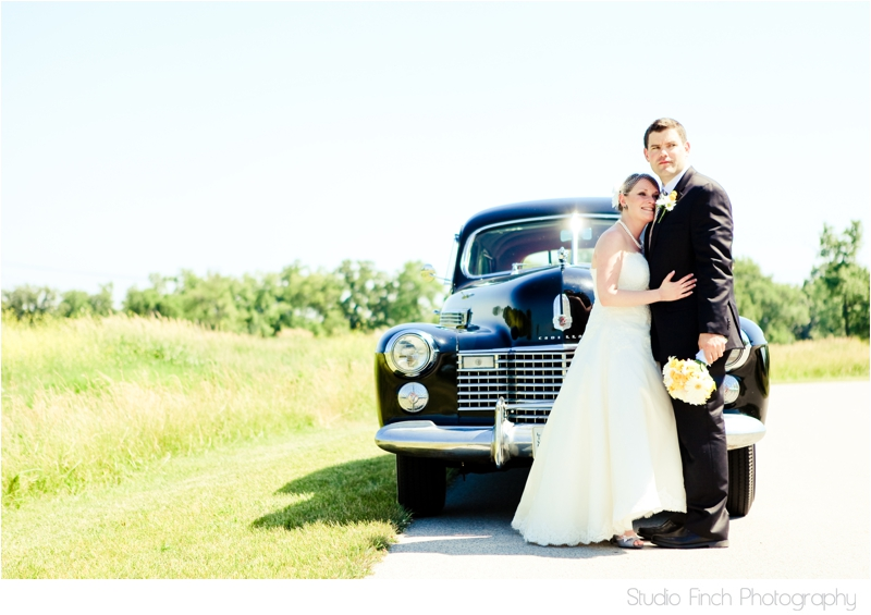 Vintage Cadillac Bride and Groom