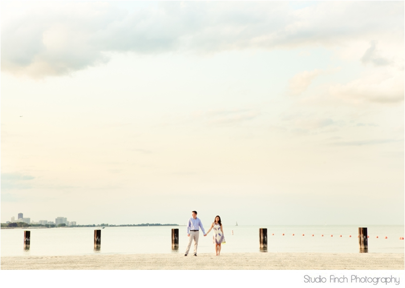Chicago Lake Front Engagement Session Studio Finch