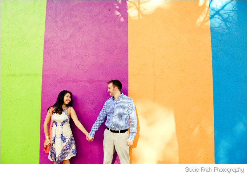 Chicago Colorful Engagement Photo Studio Finch