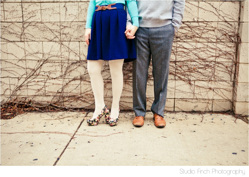 Shoes Chicago Engagement Photo by Studio Finch
