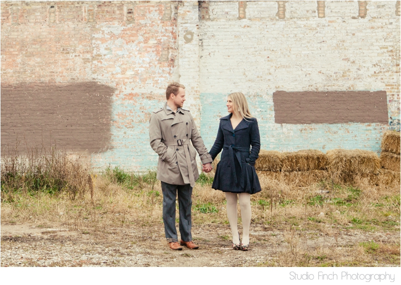 Brick Wall Chicago Engagement Photo by Studio Finch