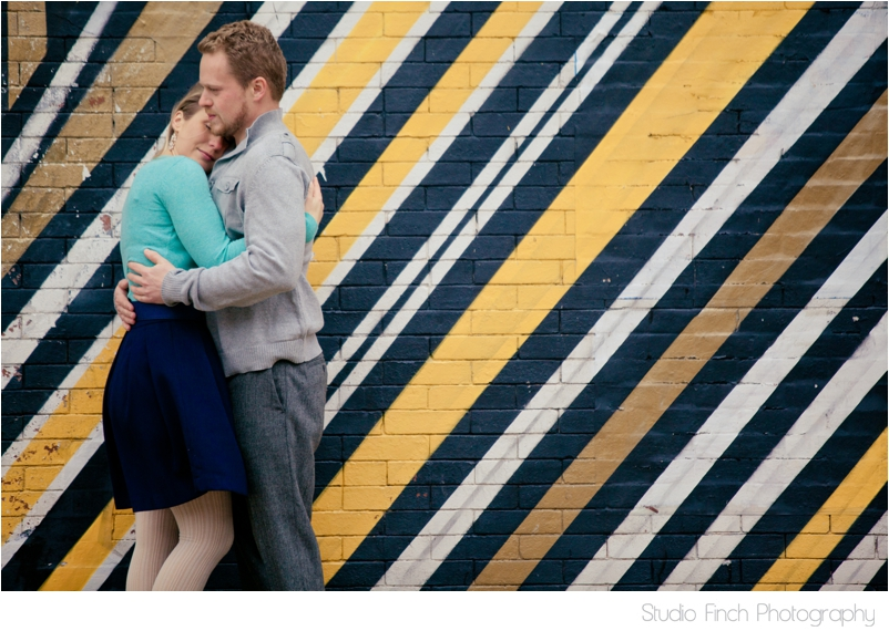 Colorful Chicago Engagement Photo by Studio Finch