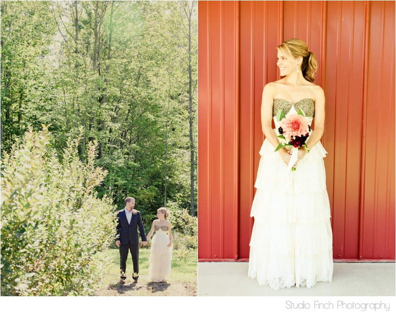 Michigan Beautiful Bride Blueberry Farm Vintage