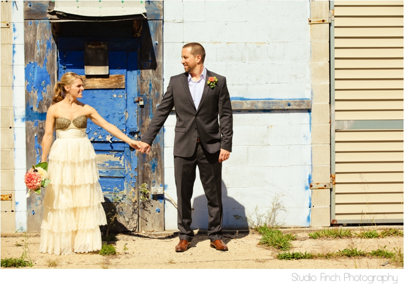 Michigan Beautiful Vintage Antique Blue Bride and Groom