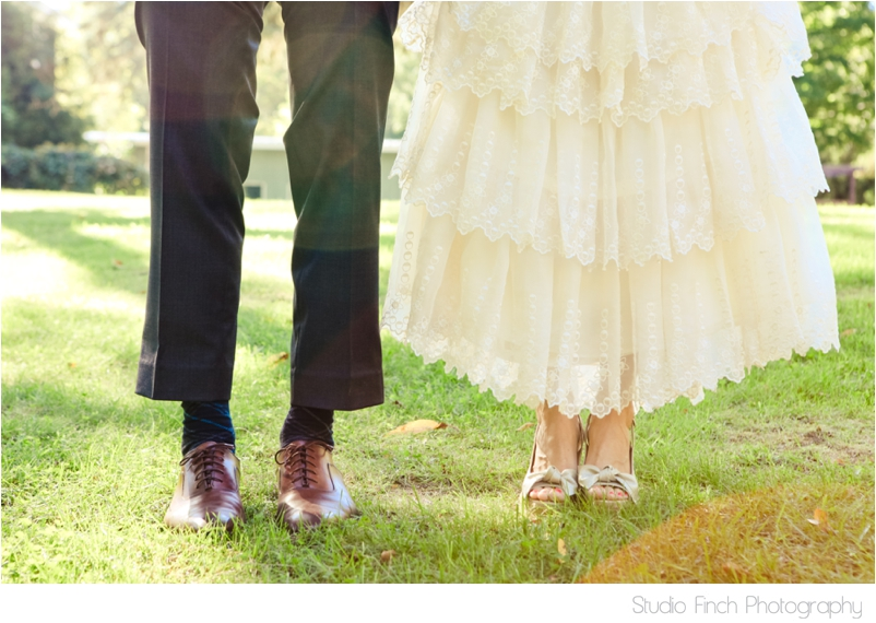 Lake Michigan Wedding Shoe Photo