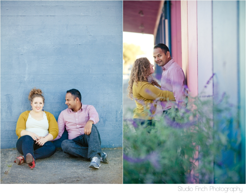 Blue Wall Ventura Beach Engagement Photography