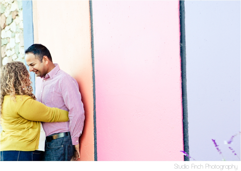 Colorful Wall Ventura Beach Engagement Photography