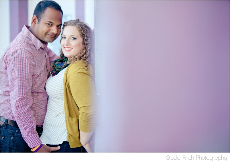 Purple Wall Ventura Beach Engagement Photography