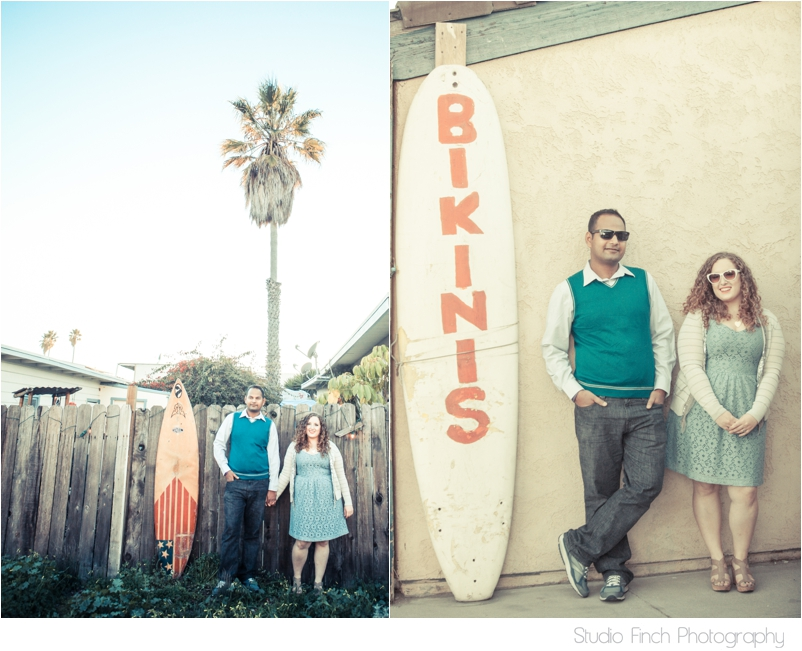 Surf Board Engagement Photography Ventura Beach