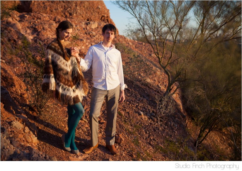 Arizona Engagement Desert Mountain Photography