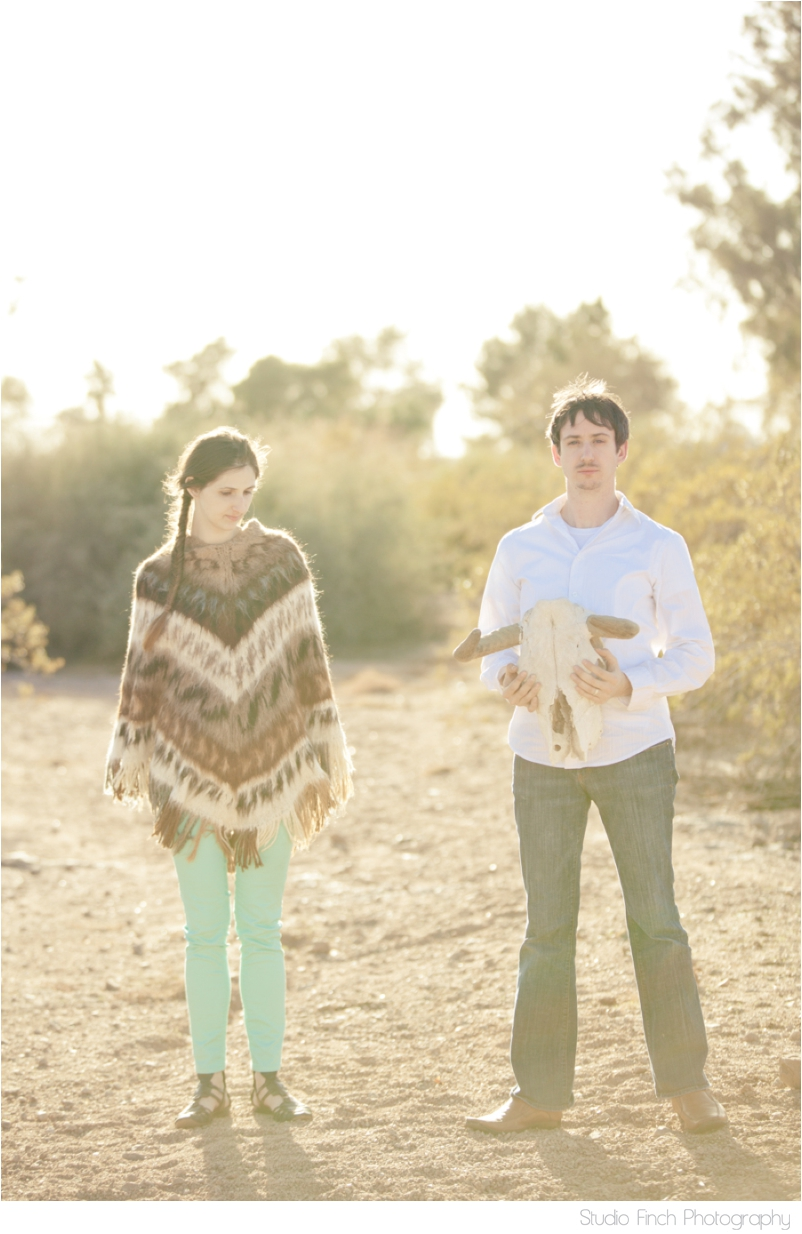 Sunset Desert Arizona Engagement Photography