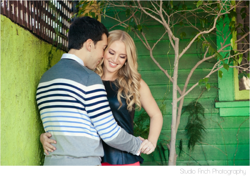 Venice Beach Engagement Photography Green Wall