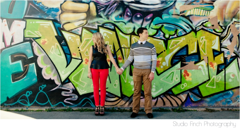 Venice Beach Graffiti Engagement Photography