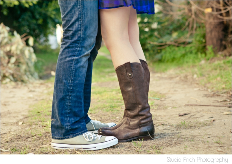 Venice Beach Engagement Cowboy boots and chuck taylors