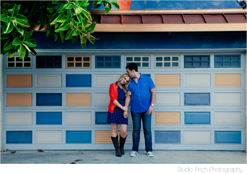 Venice Beach Engagement Colorful Garage Doors