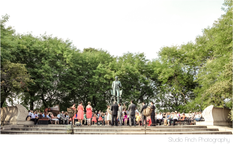Abraham Lincoln Statue in Chicago's Lincoln Park Wedding