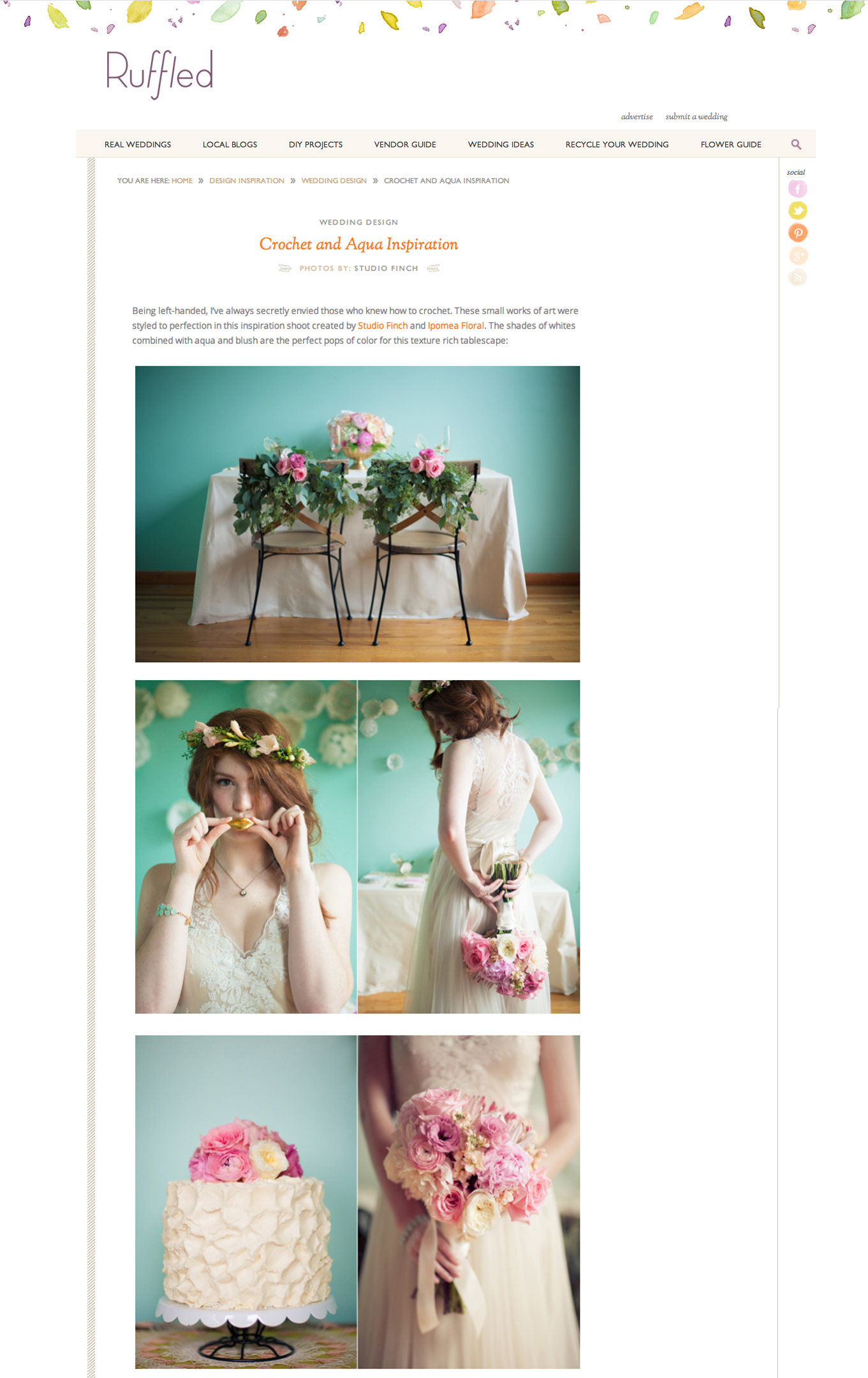 chicago wedding photographer feature ruffled blog Featured: Ruffled Blog