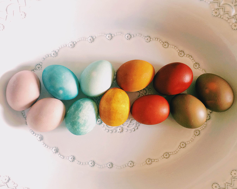 easter egg natural dye DIY