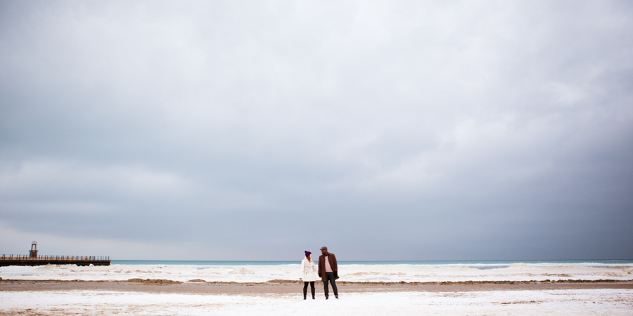 winter chicago engagement session seasons chicago wedding photographer 0001 A Chicago Winter Engagement Photography Session  Voni and Clivens