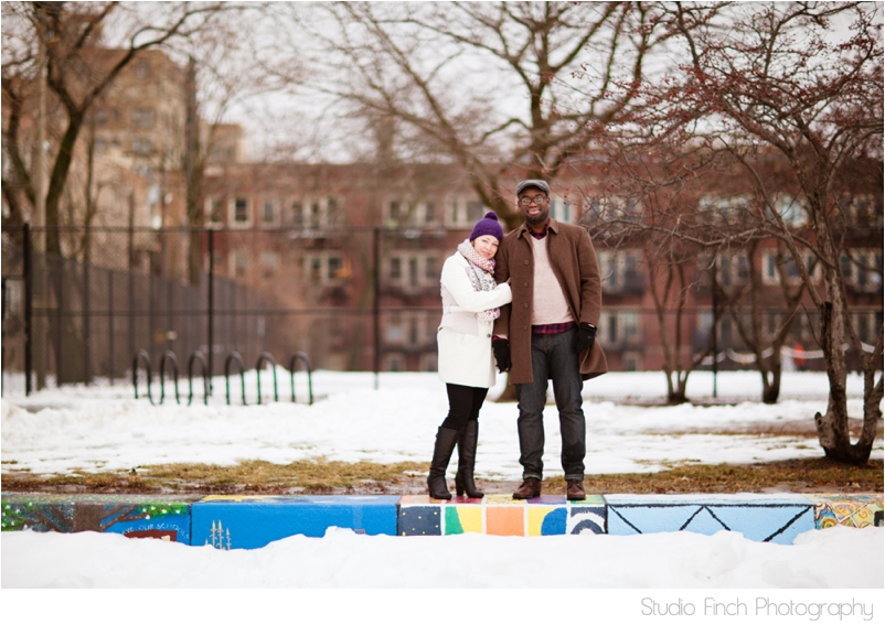winter chicago engagement session seasons chicago wedding photographer 0008 A Chicago Winter Engagement Photography Session  Voni and Clivens
