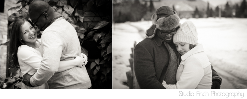 Chicago winter engagement session Lincoln Park Conservatory Rogers Park