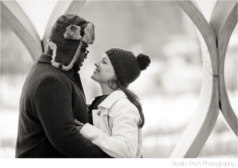Chicago winter engagement session Lincoln Park Zoo