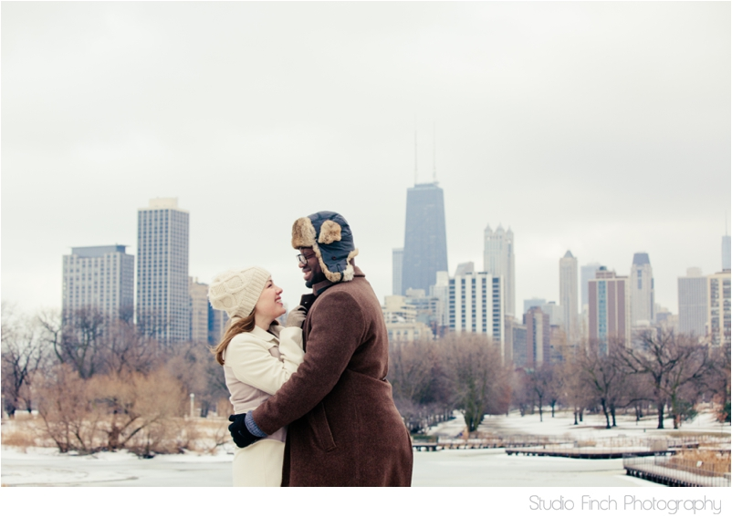 winter chicago engagement session seasons chicago wedding photographer 0019 A Chicago Winter Engagement Photography Session  Voni and Clivens