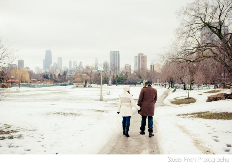 winter chicago engagement session seasons chicago wedding photographer 0021 A Chicago Winter Engagement Photography Session  Voni and Clivens
