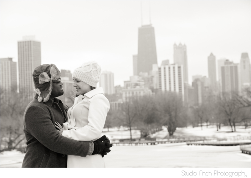 winter chicago engagement session seasons chicago wedding photographer 0023 A Chicago Winter Engagement Photography Session  Voni and Clivens