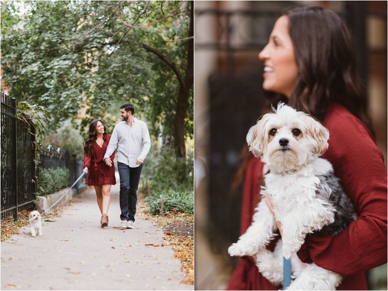 Chicago Engagement Session Wedding Photographer Wicker Park Cutest Dog Ever Studio Finch_0003
