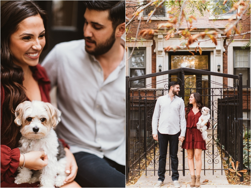 Chicago Engagement Session Wedding Photographer Wicker Park Cutest Dog Ever Studio Finch_0005