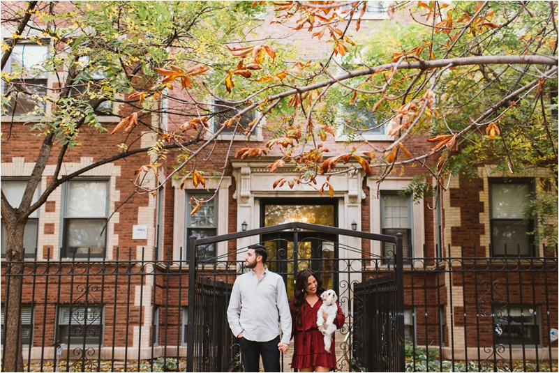 Chicago Engagement Session Wedding Photographer Wicker Park Cutest Dog Ever Studio Finch_0006