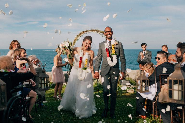 chicago promontory point wedding